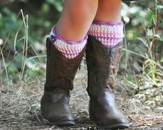 Ravelry: Kid Luvin' Boot Cuffs pattern by Lisa Naskrent.....free pattern download