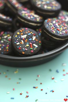 Homemade Celebration Oreos (Diamonds for Dessert). They sound really good--a combination of Bakerella`s and Smitten Kitchen`s recipes.