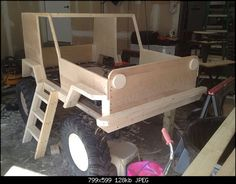 Click image for larger version Name: Views: 292 Size: KB ID: 453906 Car Furniture, Kids Bedroom Furniture, Jeep Bed, Boy Room, Kids Room, Jeep Wrangler Forum, Kids Jeep, Woodworking Projects, Diy Projects