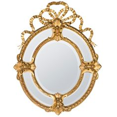 19th Century Bow-Crown French Mirror 1