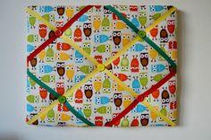 Fabric Owl Noticeboard