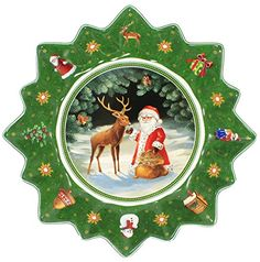VILLEROY  BOCH TOYS FANTASY Large bowl  deer with santa * Learn more by visiting the image link.