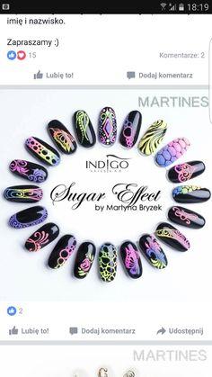 Sugar effect nails