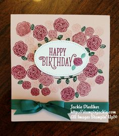 Stampin Up - Happy Birthday Gorgeous Happy Birthday Gorgeous, Happy Birthday Fun, Simple Birthday Cards, Handmade Birthday Cards, Stampin Up Catalog, Beautiful Handmade Cards, Color Card, Flower Cards, Homemade Cards
