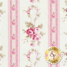 Petal PWTW056-PINK Antique Ticking Roses by Tanya Whelan for Free Spirit Fabrics: Petal is a collection by Tanya Whelan for Free Spirit Fabrics. Width: 43