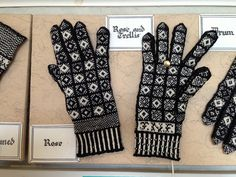 Ravelry: sockmatician's Rose and Trellis Sanquhar Gloves