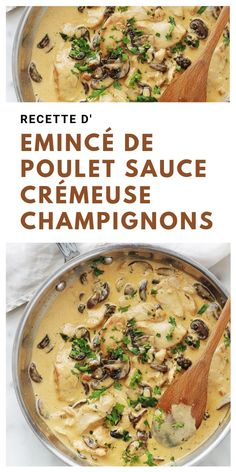 Poulet Sauce Curry, Jacques Pepin Recipes, Sauce Crémeuse, Keto Snacks, Quick Meals, Entrees, Meal Planning, Chicken Recipes, Food Porn