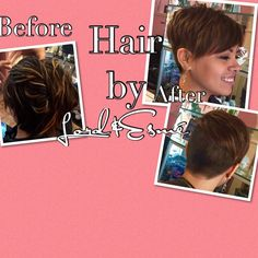 #hairbyLordandEsmé #LordandEsmé #haircut #haircolor #creativecut #razored #shorthair #pixie #summerhair #auburns #Dimension #seamless #seamlessdimension #newhair #newstyle call today for your new Style! #blowouts