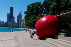 Kurt Perschke - Red Ball project