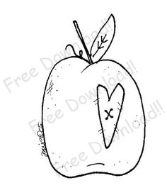 Free Prim Patterns to Download | Free Goods - Free Patterns - Fruits and Veggies - Free Apple with Prim ...