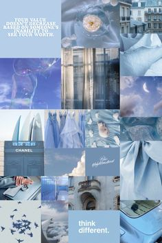 Blue Aesthetic, Wall Collage kit, 40 Pcs
