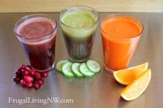Juicing on a budget, with recommendations for juicers and ideas for produce to go in the juice