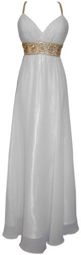 Greek Goddess Chiffon Starburst Beaded Full Length Gown Prom Dress Junior Plus Size for only $149.99 You save: $30.00 (17%)