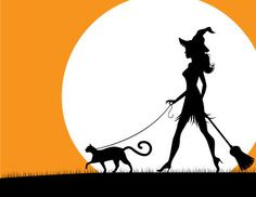 Witch walking cat - Michele Paccione
