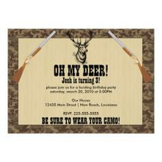 Hunting Birthday Personalized Announcements