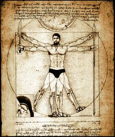 The 'Vitruvian Man' is a drawing created by Italian genius Leonardo da Vinci in 1490. Description from islamicvoice.com. I searched for this on bing.com/images