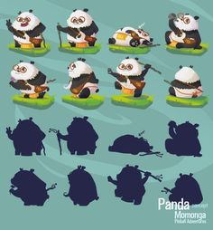 Panda the Panda final concept #CharacterDesign #Gamedesign #MomongaPinballAdventures