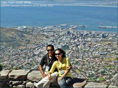 jalan-jalan gratis dari Oriflame bersama suami @Matt Valk Chuah TOP of Table Mountain CapeTown