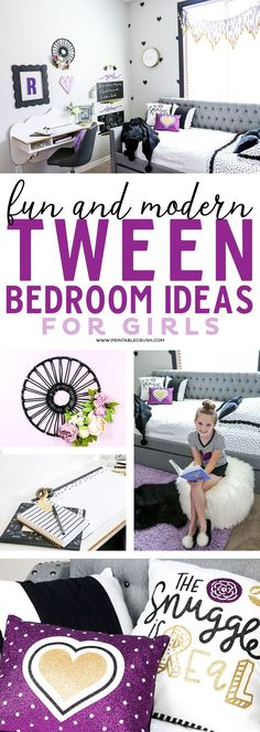 Redecorate your daughters bedroom with these fun and modern tween bedroom ideas! Redecorate your daughters bedroom with these fun and modern tween bedroom ideas! These styles will last through the teen years!