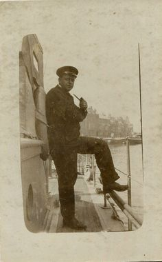 original 1920s postcard Sailor on the Harbour Ferry WEYMOUTH Dorset | eBay