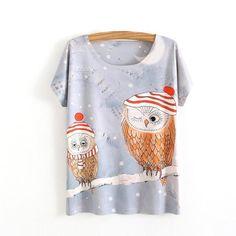 Women's 3-d T-shirt funny prints