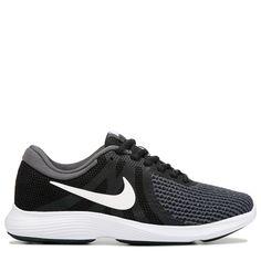 Nike Women's Revolution 4 Wide Running Shoes (Black / White)
