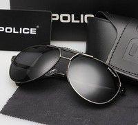 Wish | Sunglasses tide men fishing polarizing glasses sunglasses driver glasses anti UV driving glasses myopia(Black&Silver) (Color: Black)