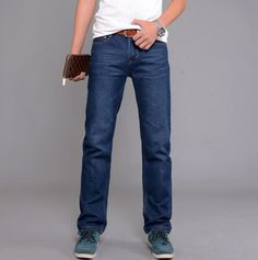 14.14$  Buy now - http://alixmf.shopchina.info/go.php?t=32799234859 - Odinokov Brand 2017l Famous Brand Jeans For Men Cheap Jeans China Straigh Regular Fit Denim Jeans Pants Classic Blue Size  28-38 14.14$ #shopstyle