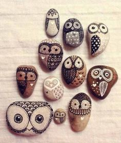 Owl rocks - you could even make these inot fridge magnets!