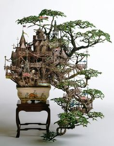 Wow. That's an awesome way to use a bonsai tree.