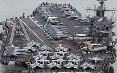 United States US aircraft carrier arrives in South Korea to join drill
