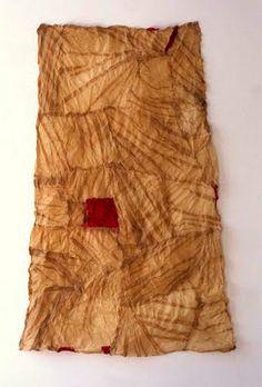 Piecing #2, 1996. flax paper, pigment. Susan Warner Keene