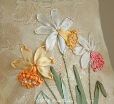 Think Spring Ribbon Embroidery