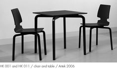 HK 001 and HK 011 / chair and table / Artek 2006