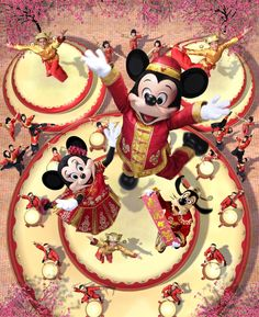 From February 5 to 28, Mickey, Minnie and other Disney Characters will put on their new festive costumes to wish Guests the best of luck in the New Year. Description from disneyandmore.blogspot.co.uk. I searched for this on bing.com/images