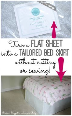 DIY no-sew bed skirt tutorial by Designer Trapped in a Lawyer's Body {www.designertrapped.com}