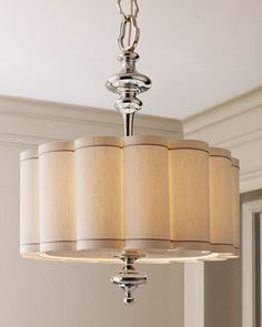 This chandelier rocks, like something I would see at The Clift Hotel here in SF. #HORCHOW. Scalloped Shade Chandelier at Horchow.
