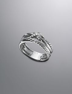 Pave Diamond Crossover X Ring | Women Rings | David Yurman Official Store