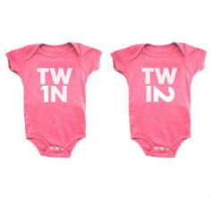 Adorable onesies for twins!    Pinned for BabyBump, the #1 mobile pregnancy tracker with the built-in community for support and sharing.