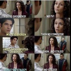 "Remember the time Scott got punished by his mom taking Stiles away? 21 Reasons Why Scott And Stiles Are The Cutest Couple On ""Teen Wolf"" Dylan O'brien, Teen Wolf Dylan, Teen Wolf Stiles, Teen Wolf Cast, Teen Wolf Memes, Teen Wolf Quotes, Teen Wolf Funny, Tyler Posey, Scott Mccall"