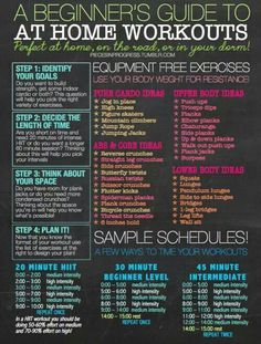 AT HOME WORKOUTS and 25 quick workouts