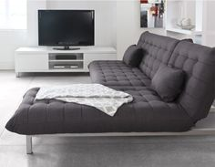 FLOW - Lounge chair-bed - Grey