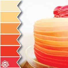 Orange Ombre Cake color palette   P▲STEL FEATHER STUDIO