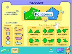 """Presentación de """"Los Polígonos· en Segundo y Tercer ciclo de Primaria - #Pipo #educación #TIC #web20 #juegos #escuela #repaso #padres"""