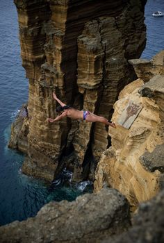 2012 Cliff Diving World Series - Vila Franca do Campo, Azores, Portugal- these people are NUTS