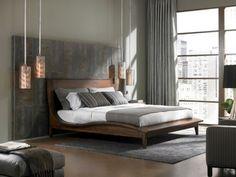 Attraktive Pendelleuchten Im Gemütlichen Modernen Schlafzimmer