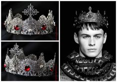Hey, I found this really awesome Etsy listing at https://www.etsy.com/listing/255142145/dolce-male-crown-runway-silver-male