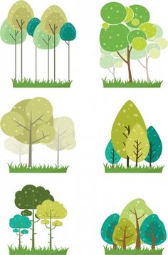 tree icons collection flat colored The Effective Pictures We Offer You About bonsai Tree A quality p Halloween Illustration, Art And Illustration, Flat Design Illustration, Doodle Drawing, Doodle Art, Art Scandinave, Tree Icon, Design Poster, Tree Art