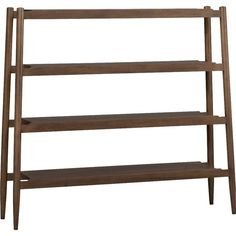 Crate & Barrel Presidio Bookcase (1,325 CAD) ❤ liked on Polyvore featuring home, furniture, storage & shelves, bookcases, book shelving, display bookcase, slanted shelf bookcase, book display shelf and shelves bookcases