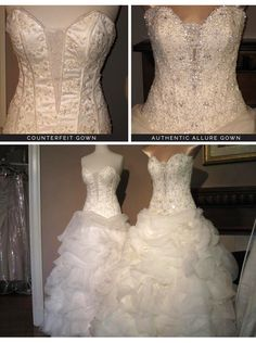 Allure Bridals has a very long list of Chinese counterfeit dress websites to avoid when shopping for a wedding dress. It's a good list to keep on hand when you've just gotten engaged and/or planning a wedding. Cute Dresses, Formal Dresses, Wedding Dresses, Online Shopping Fails, Dress Websites, Designer Gowns, Wedding Planning, Wedding Ideas, One Shoulder Wedding Dress